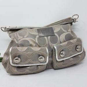 COACH Poppy Metallic Signature C Shoulder Bag